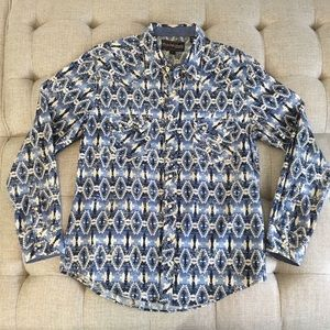 Like New Rock and Roll Cowboy Aztec Shirt Large